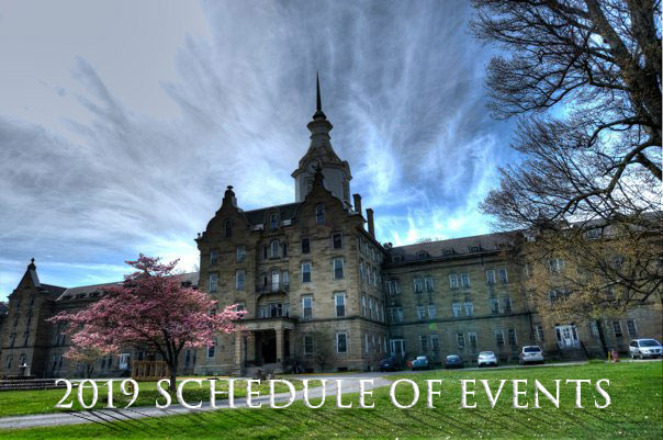 Trans-Allegheny Lunatic Asylum Tentative schedule for 2019
