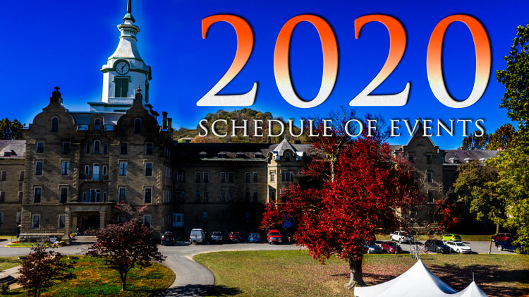 Trans-Allegheny Lunatic Asylum Tentative schedule for 2020